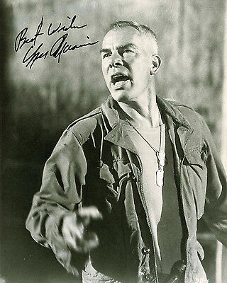 """10""""x8"""" PHOTO PRINTED AUTOGRAPH - LEE MARVIN"""