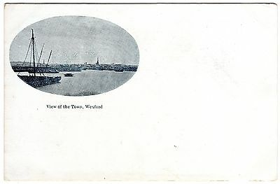 Rare unused Undivided Back Postcard View of the Town & Harbour- Wexford-Ireland