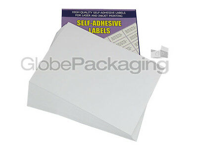 100 Sheets - 6 Per Sheet - Quality A4 Easy Peel Printer Address Labels *offer*