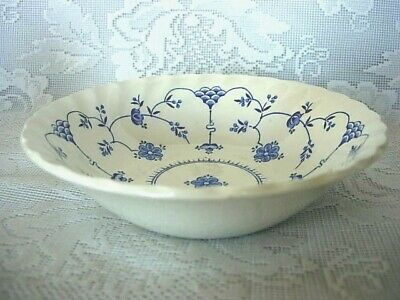 MYOTT Finlandia Cobalt Blue Daisies Dessert Cereal Bowl - England-MORE AVAILABLE