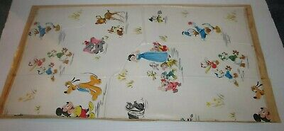Disney Vintage Contact Adhesive Paper Panels Deal/4 Pieces Self Stick1959 As-Is