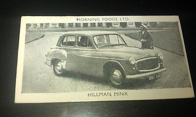 1953 HILLMAN MINX  Orig Cereal Trading Card