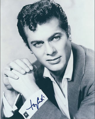 "10""x8"" PHOTO PRINTED AUTOGRAPH - TONY CURTIS c"