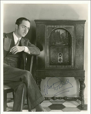 "10""x8"" PHOTO PRINTED AUTOGRAPH - WILLIAM POWELL a"