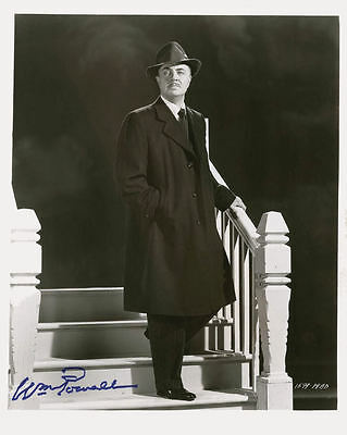 "10""x8"" PHOTO PRINTED AUTOGRAPH - WILLIAM POWELL b"