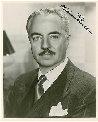 "10""x8"" PHOTO PRINTED AUTOGRAPH - WILLIAM POWELL c"