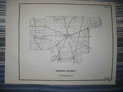 Antique 1940 Marion County Waldo Prospect Ohio Highway Map Township Road Rare Nr