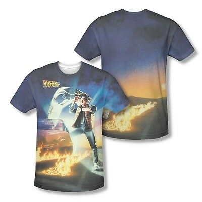Back To The Future Poster All Over Sublimation Print Licenced Adult Shirt S-3XL