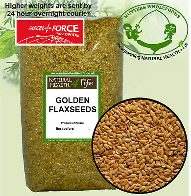 Golden Flaxseeds / Linseeds,Flax Seeds / Lin Seeds,Omega Oils,Grown UK Post Free