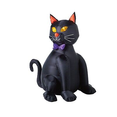 inflatable lighted black halloween cat 48 tall