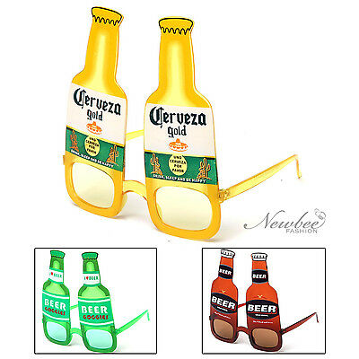BEER BOTTLE COSTUME Party Glasses Sunglasses Corona Heineken Budweiser  Inspired