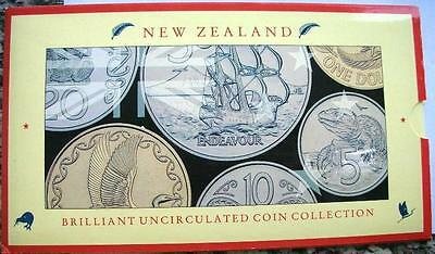 New Zealand 1990 Mint Set of 6 Coins,5,10.20,50Cents1,2 Dollars