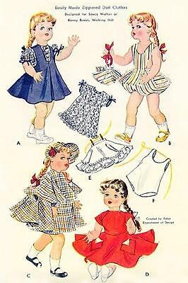 "VINTAGE 22"" SAUCY WALKER, TERRI LEE DOLL CLOTHES PATTERN 1825"