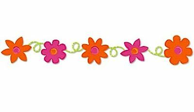 Sizzix Sizzlits DECORATIVE STRIP Die - LOOPY FLOWERS Discontinued