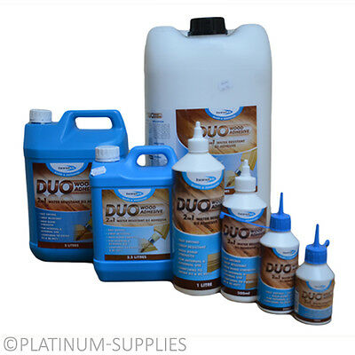 Duo 2 In 1 Water Resistant Wood Glue Pva Timber Adhesive D3