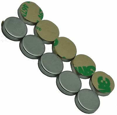 """1/2"""" x 1/8"""" Disc Magnets - Adhesive Backed"""