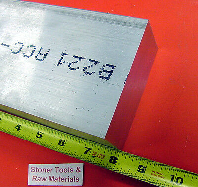 "2"" X 4"" ALUMINUM 6061 FLAT BAR 8"" long T6511 2.00"" New Plate Solid Mill Stock"