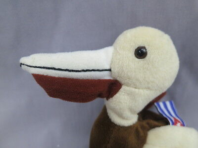 New Coca-Cola Can  Cuba Flag Brown Pelican Bird Plush Soft Realistic Stuffed
