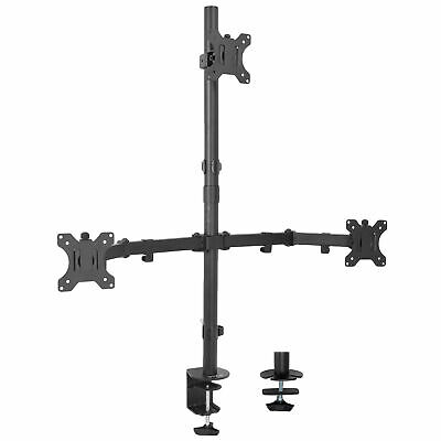 Triple LCD Monitor Desk Mount Stand Heavy Duty Adjustable 3 Screens up to 27""