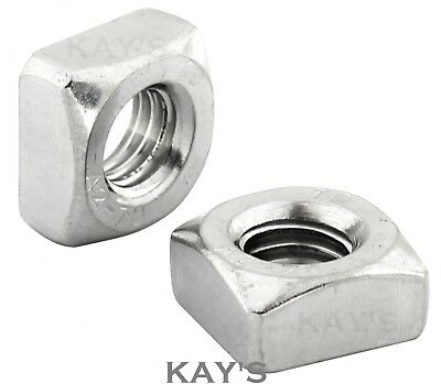 Square Nuts To Fit Metric Bolts & Screws A2 Stainless Steel M5 M6 M8 M10 M12