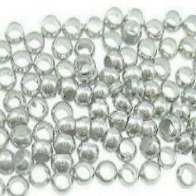 500 pieces 1.5mm-2mm Silver Plated Round Crimps Stopper Beads  A6708