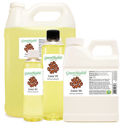 Castor Carrier Oil (100% Pure/Natural) FREE SHIPPING Many Sizes