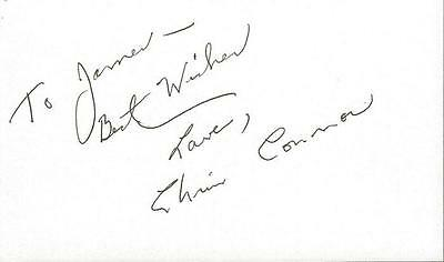 Chris Connor Signed 3x5 Index Card