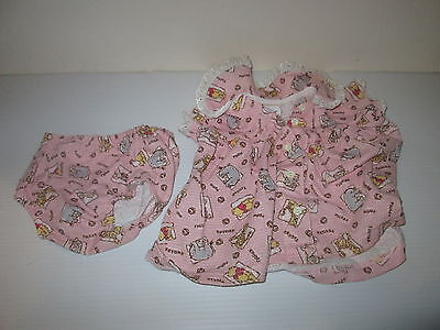 Disney Classic Winnie Pooh Baby Dress & Bloomers Newborn Toddle Tyke Nb Outfit