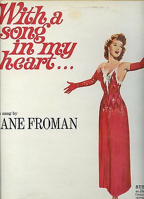 JANE FROMAN with a song in my heart UK EX LP 60'S