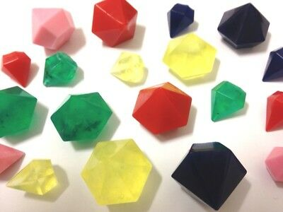 DIAMONDS Silicone Mould 27 Cavities:Jewels Gems Soap Ice tray, High Quality mold