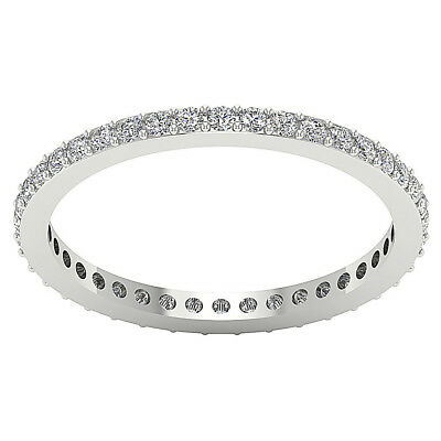 2.15 MM Excellent Eternity Ring Band Prong Set I1/G 0.55Ct Real Diamond 14K Gold
