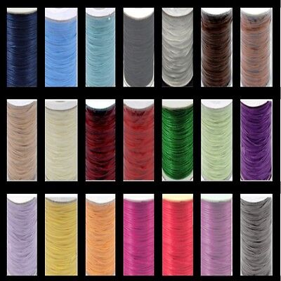 0.5mm / 1.5mm / 2mm - Korea Polyester Waxed cord - Jewellery Making - UK Seller