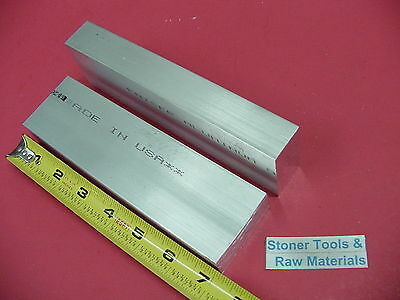 "2 pieces 1"" X 2"" ALUMINUM 6061 FLAT BAR 7"" long Solid 1.00 T651 Plate Mill Stock"