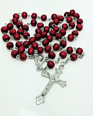 WOOD 6mm PERFUMED Wooden ROSARY Beads NECKLACE Party Favours BOMBONIERE Wedding