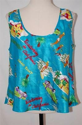 Vtg 80s CALIFORNIA san diego DANA POINT SURFER hawaiian like NIGHTIE TANK TOP M