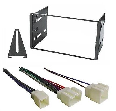 Aftermarket Double Din Dash Kit Radio Stereo Install Installation + Wire Harness