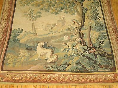 Antique French Tapestry 18th Century Size 7'4''x8'10''