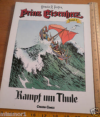 Carlsen Comics German Prince Valiant #8 Harold F Foster 1992 HTF COLOR book