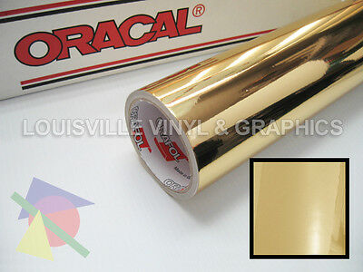 """24"""" Wide - Oracal 351 Gold Chrome Polyester Sign & Graphic Cutting Vinyl Film"""