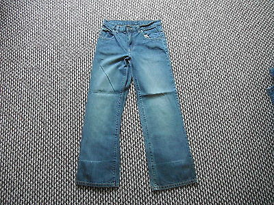 "Next Straight Leg Waist 28"" Leg 28"" Faded Dark Blue Boys 12 Yrs Jeans"