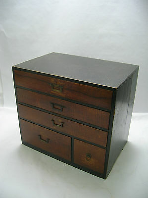 Tansu Small Make-up  Box circa1900s Japanese Antique #125
