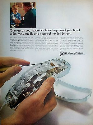 1966 Western Electric Inside Phone Dial Palm Of Your Hand Father Son ad