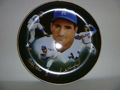 SANDY KOUFAX - Los Angeles Dodgers 1985 Dual Autographed Plate RARE