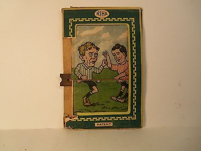 Antique SOCCER PLAYERS Animated RIHA Comical Paper Toy MADE IN GERMANY