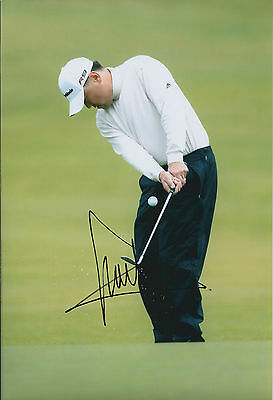 Charlie WI SIGNED AUTOGRAPH Golf 12x8 Photo AFTAL COA PGA Tour South Korean
