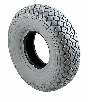 2 x Mobility Scooter Tyres  & Tubes 330x100 400x5 Grey Diamond Block Tread