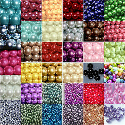 400x4mm 200x6mm 200x8mm 100x10mm GLASS PEARL BEADS UK SELLER