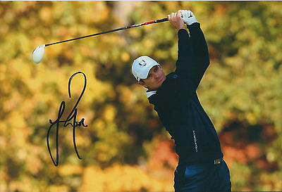 Justin ROSE SIGNED 12x8 Photo AFTAL Autograph COA Ryder Cup Team EUROPE Golf