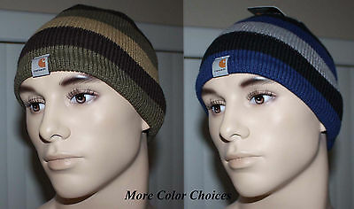 Carhartt Men's Multi-Colored Striped Lined Knit Beanie Hat Sz OS NWT **