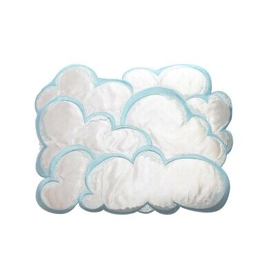 ID 5020 Group of Clouds Large Patch Fluffy Sky Rain Embroidered Iron On Applique